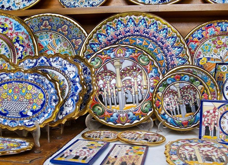 Handmade traditional spanish plates stock photo & Handmade traditional spanish plates   Stock Photo   Colourbox