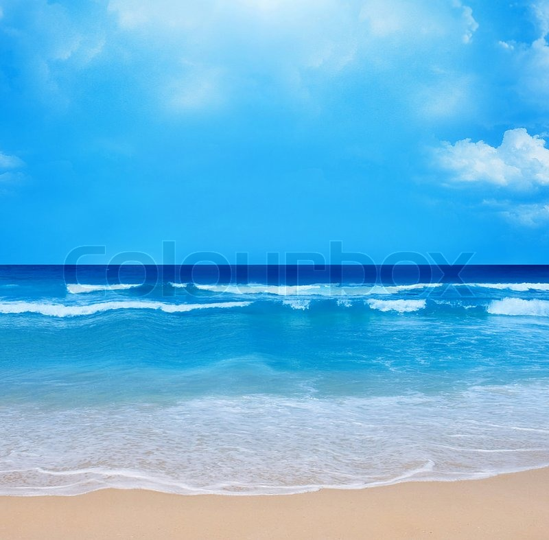 Beach Backgrounds on Stock Image Of  Summertime At The Beach Background