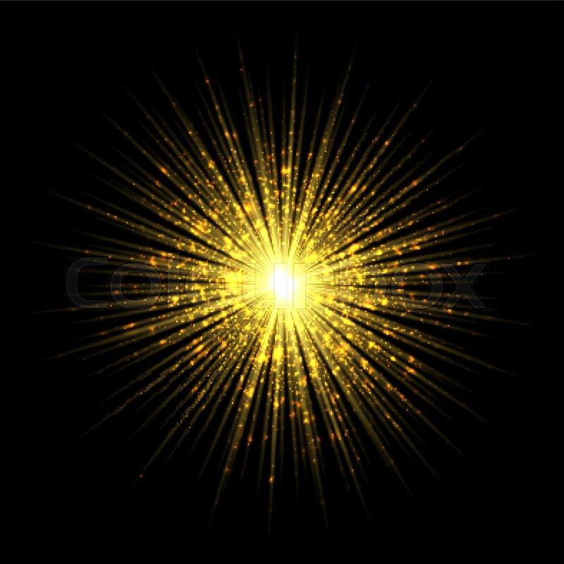 Firework salute magic gold light     | Stock vector | Colourbox