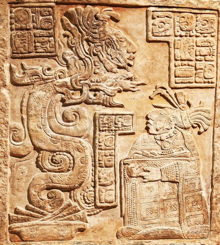 Pre columbian mexican art stone stock photo colourbox