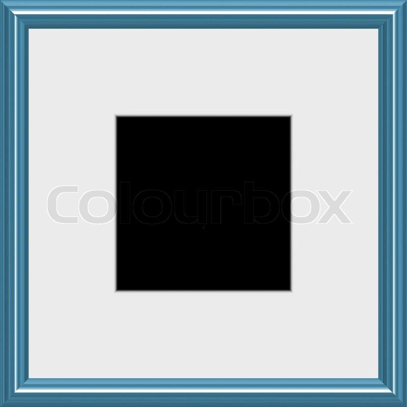 Ein moderner Rahmen silber mit verfilzten weißen Raum, mit ...