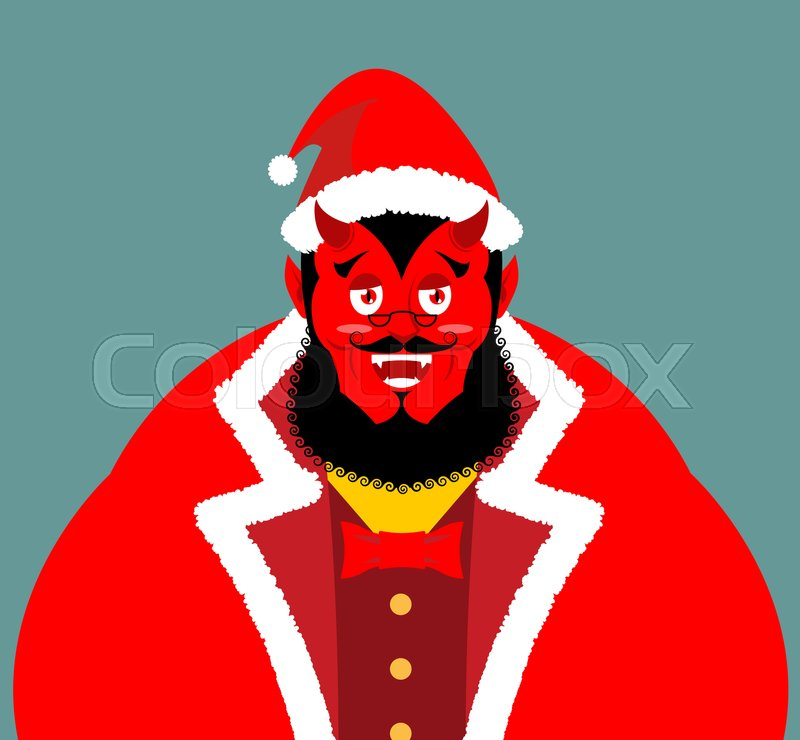 krampus satan santa claus red demon with horns christmas monster for bad children and bullies folklore evil devil with beard and mustache shit bag for - Santa Claus For Kids