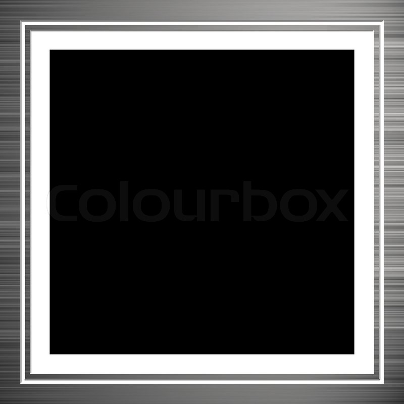 Brushed aluminum photo frame with a white matte | Stock Photo ...