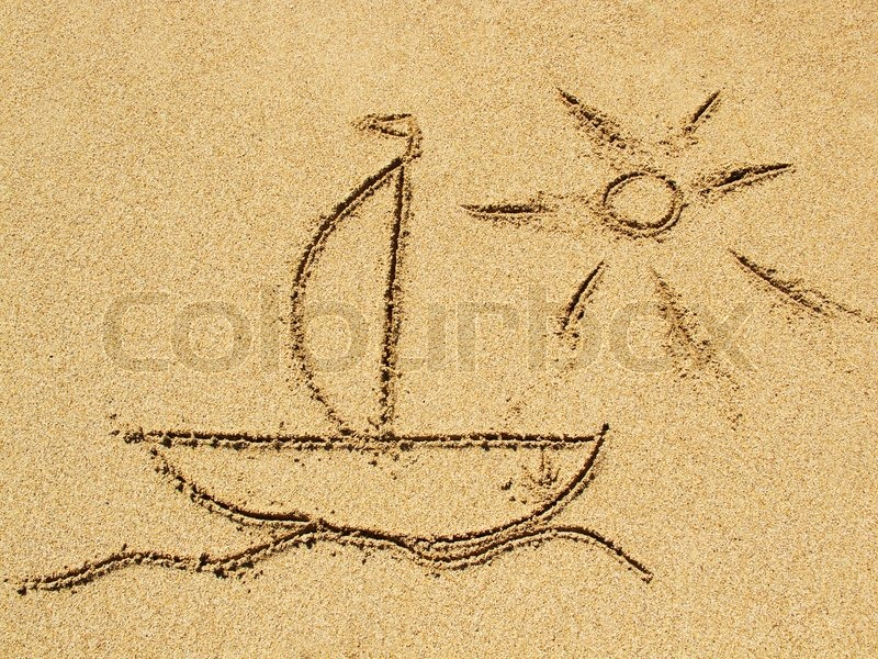 Simple Ship Drawing Quot Ship Quot Drawing on The Sand of