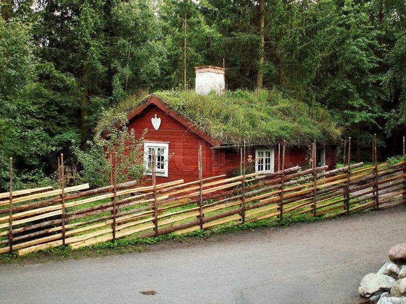 Rural House In Stockholm Skansen Stock Photo Colourbox