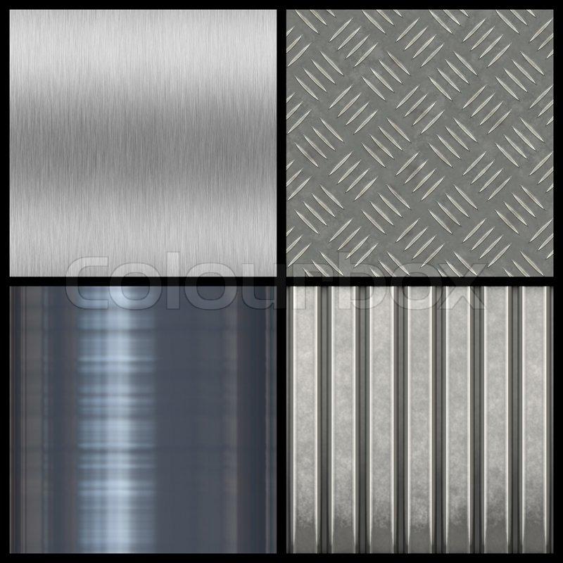 Eine Sammlung Von Modernen Metall Texturen   Die Meisten Fliesen Nahtlos  Als Muster In Eine Beliebige Richtung Größere Versionen Der Einzelnen Sind  Auch In ...