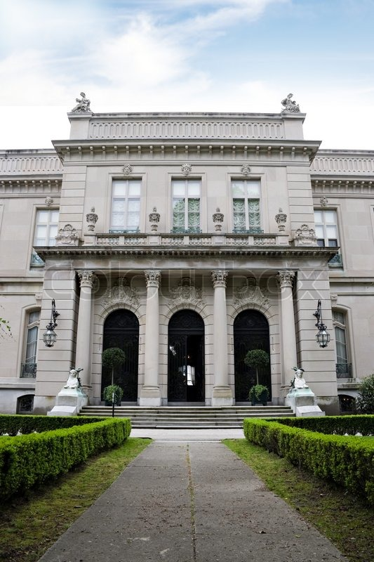 The Entrance Of The Historic Elms Mansion Located In
