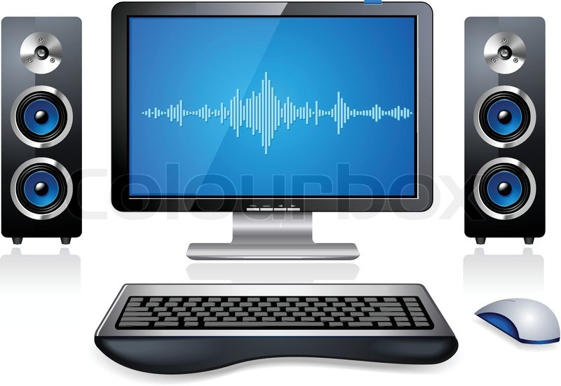 Desktop multimedia personal computer workstation | Stock Vector | Colourbox