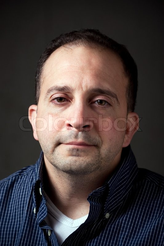 Portrait Of A Middle Aged Man In His Upper Thirties With A