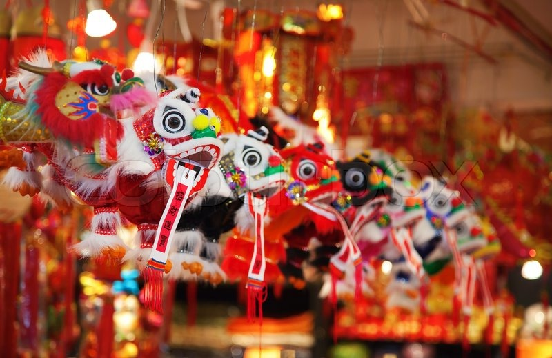 93b77ea99 Traditional cninese toys (lion dance ...   Stock image   Colourbox