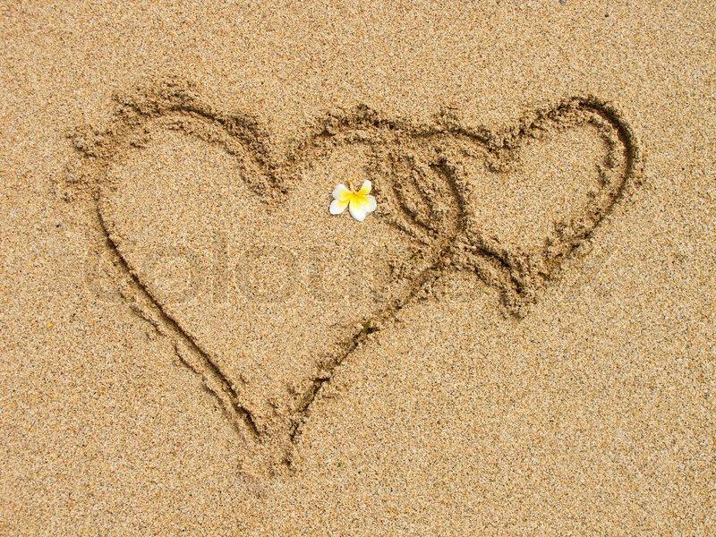 paar sand auf strand setzen stock foto colourbox. Black Bedroom Furniture Sets. Home Design Ideas