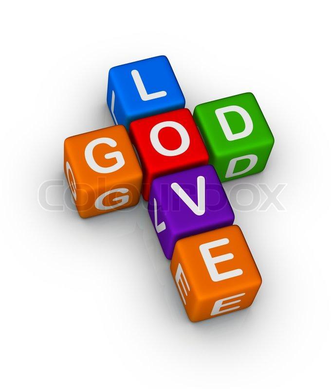 god is love multicolor symbol stock photo colourbox