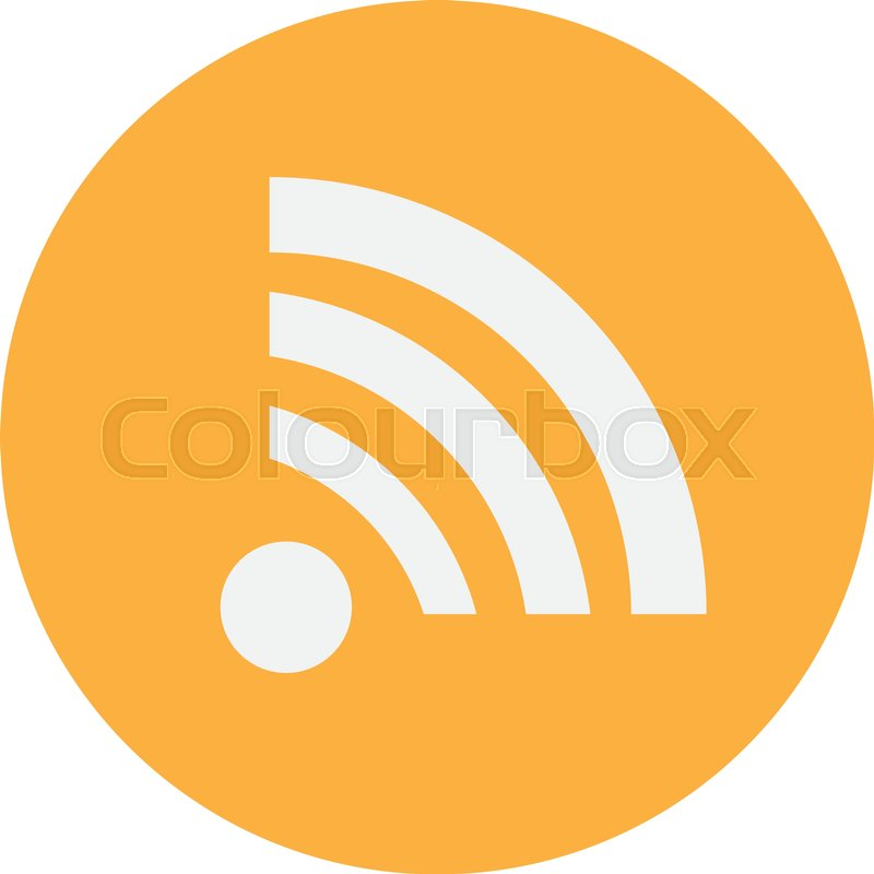 Wireless Network Symbol Of Wifi Icon Vector Illustration Stock