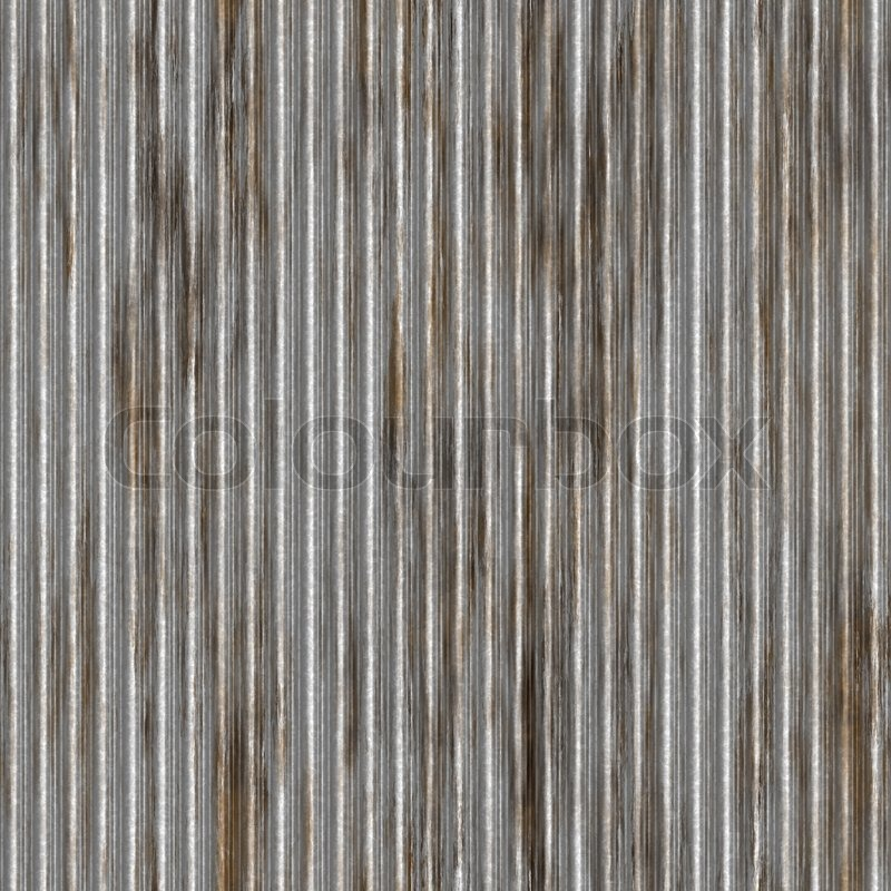 A Corrugated Metal Texture With Rust That Tiles Seamlessly