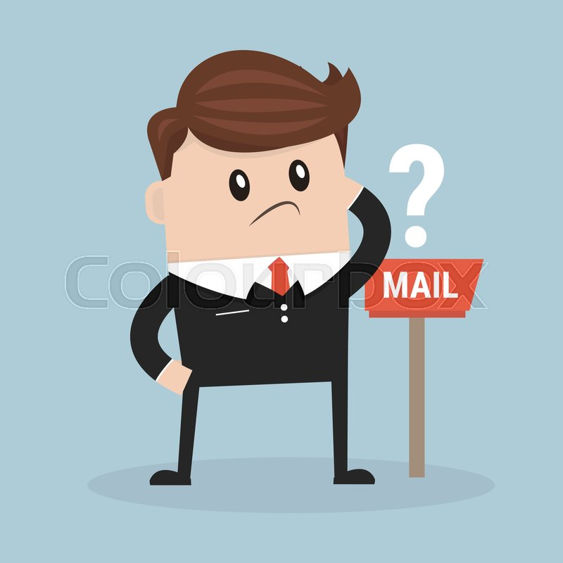 Waiting For Mail >> Business Man Waiting For Mail Stock Vector Colourbox