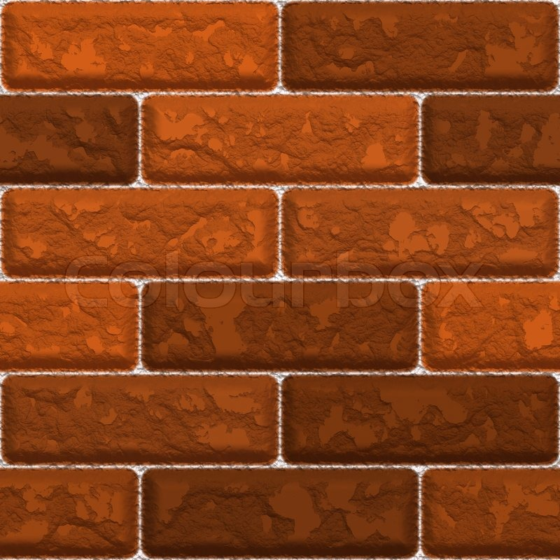 Brick Wall Design Tiles : Seamless red brick wall texture that tiles as a pattern
