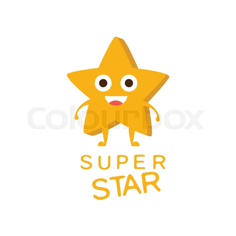 Super Star Word And Corresponding Illustration Cartoon Character