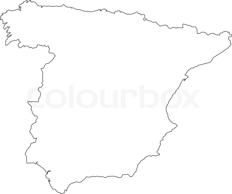 Spain Outline Vector Map