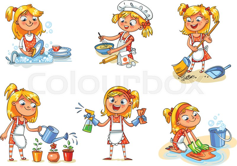 house cleaning girl is busy at home watering flowers spray bottle clip art b/w spray paint bottle clipart