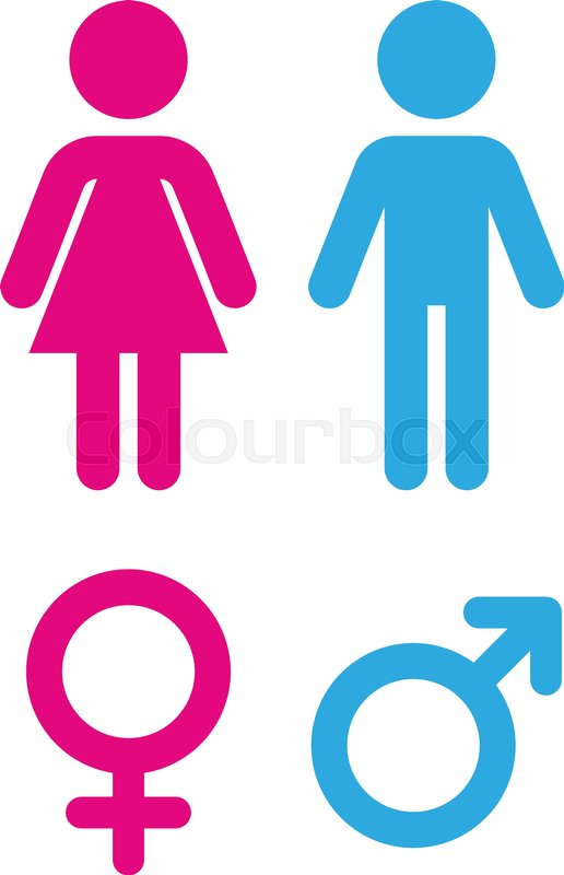 Man and woman flat icon. Sign toilet. Vector logo for web design ...