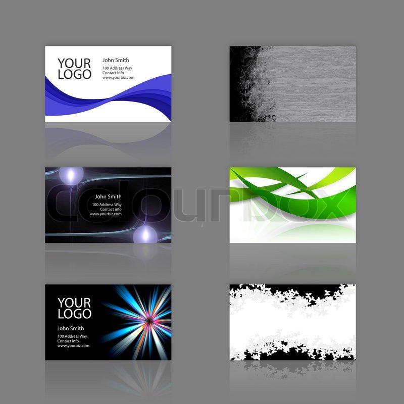 Ein sortiment von 6 moderne visitenkarten vorlagen druckfertige und vollst ndig anpassbar - Visitenkarten gratis vorlagen ...