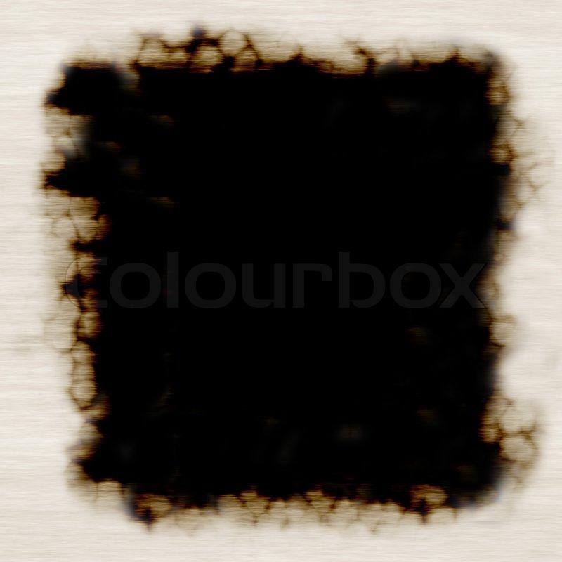 Ein verbranntes Papier Rahmen - viel Platz kopieren | Stockfoto ...