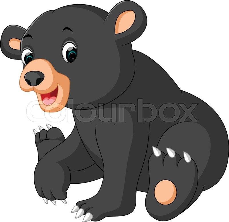 illustration of bear cartoon stock vector colourbox rh colourbox com black and white bear cartoon black bear cartoon character