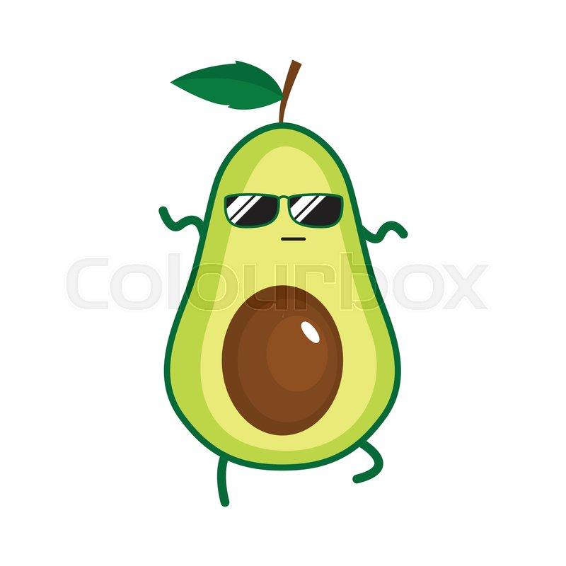 Illustration Of Cute Avocado. Vector ...