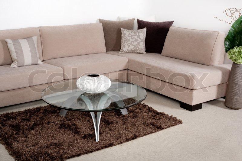 Topnotch Flot stue med moderne sofa | Stock foto | Colourbox YP92