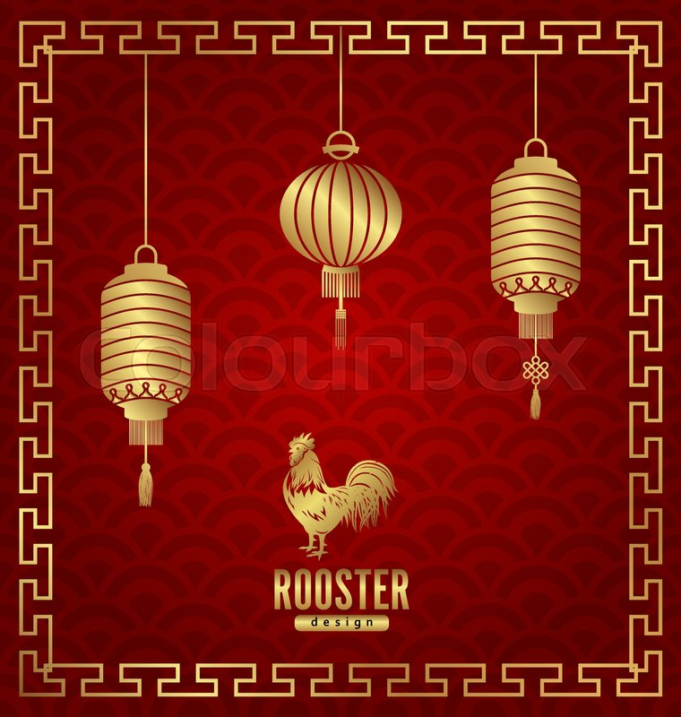illustration oriental banner for chinese new year rooster templates for design greeting cards invitations flyers etc vector vector