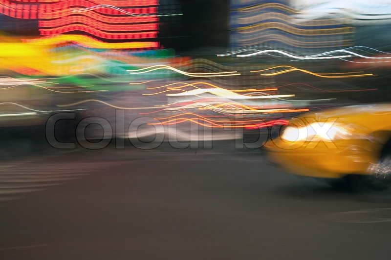 298a873fef5e8 Abstract blur of a street scene in New ...