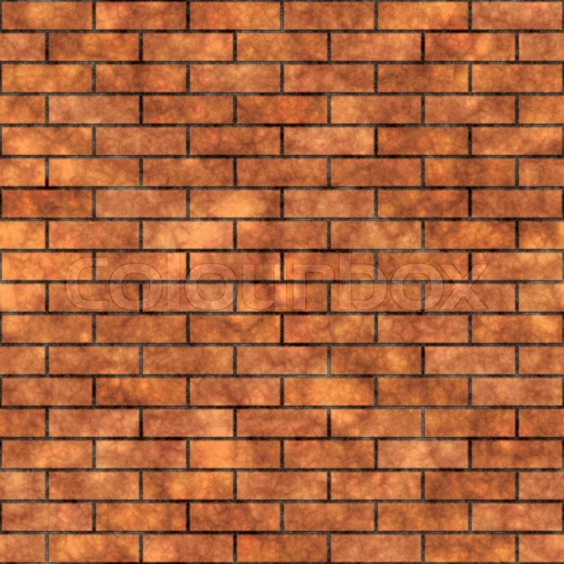 Seamless grungy brick wall texture in a burnt orange tone - Pared de ladrillos ...
