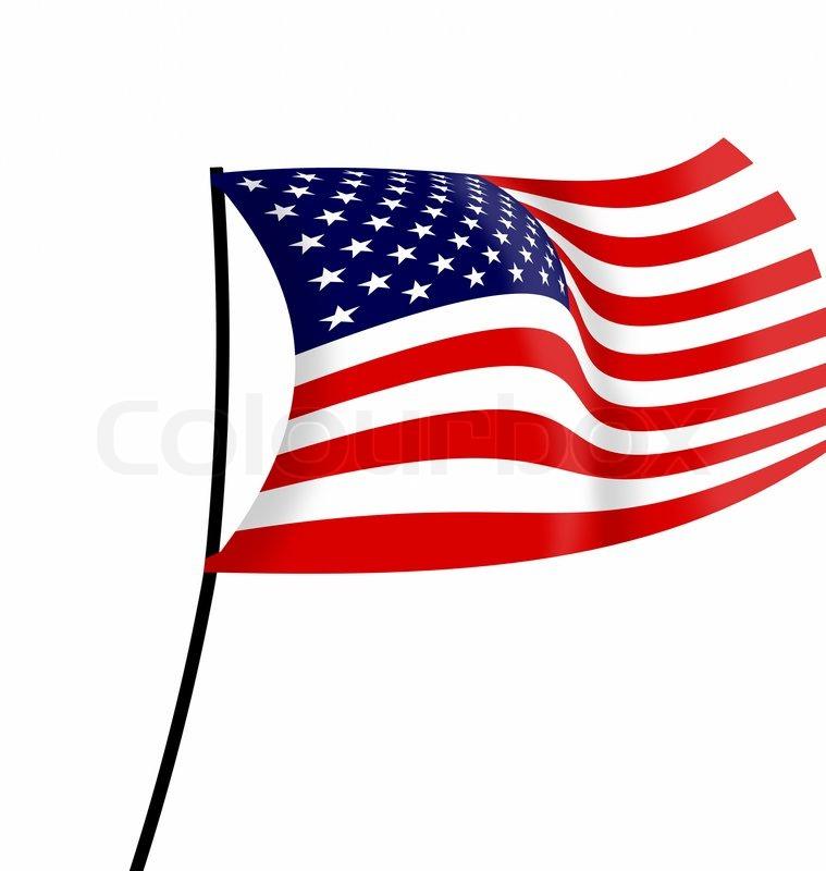 USA Flagge auf einem weien Hintergrund  Stockfoto  Colourbox