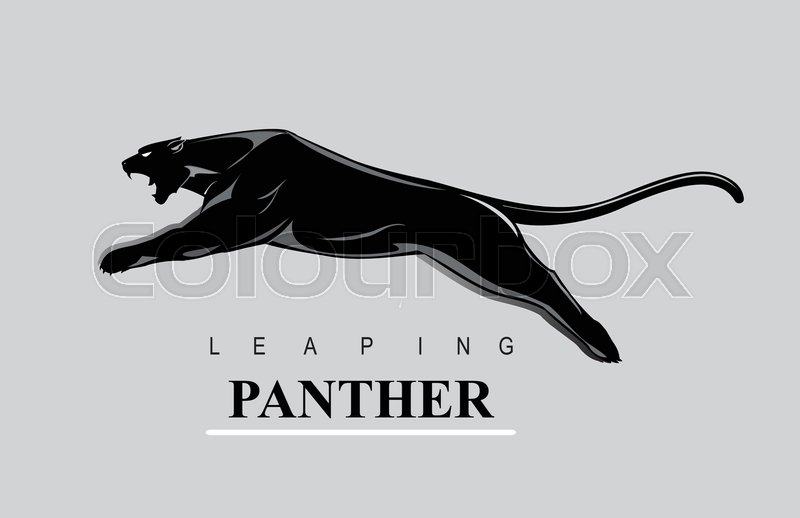 aedf1915d99 Fearless Panther. Leaping panther. ... | Stock vector | Colourbox