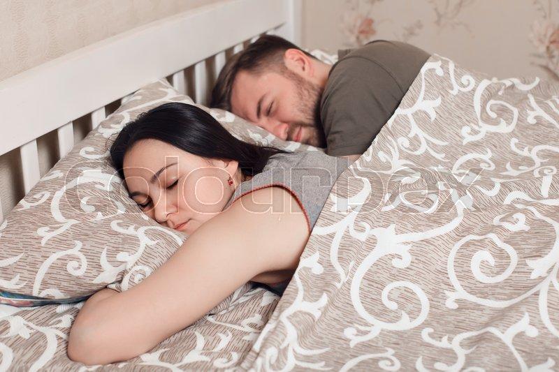under Couple blanket sleeping