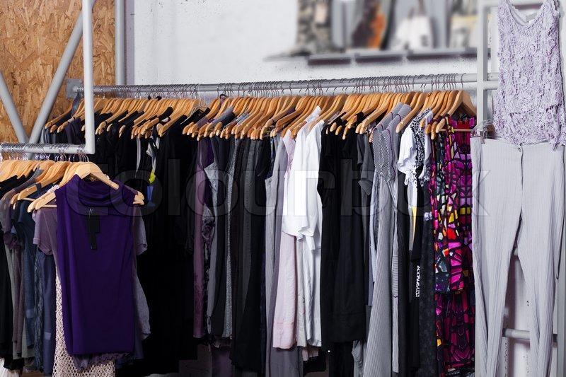 Luxury Fashion Clothes In Display For Stock Photo