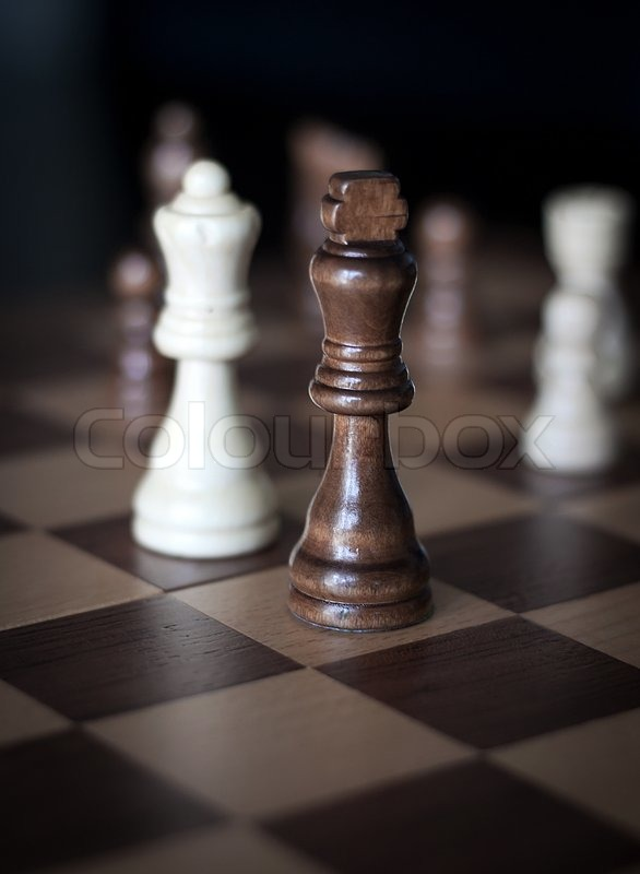 Chess piece queen and king | Stock Photo | Colourbox