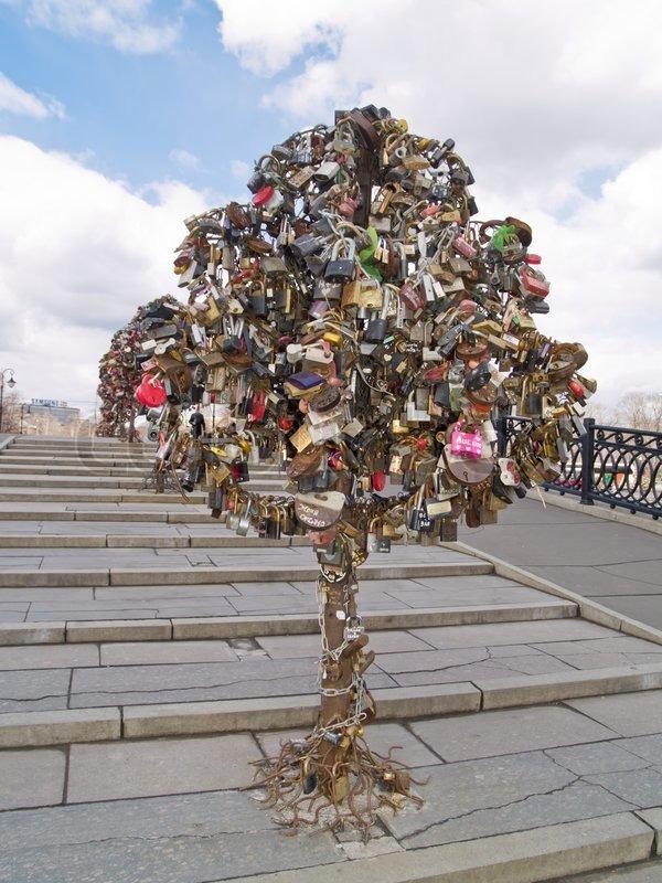 Metal Tree Of Love With Locks Stock Photo Colourbox