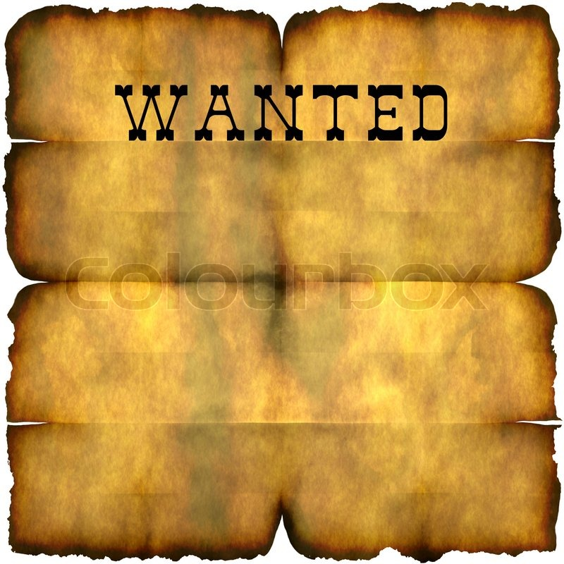 An empty wanted poster with copy space isolated over white | Stock ...