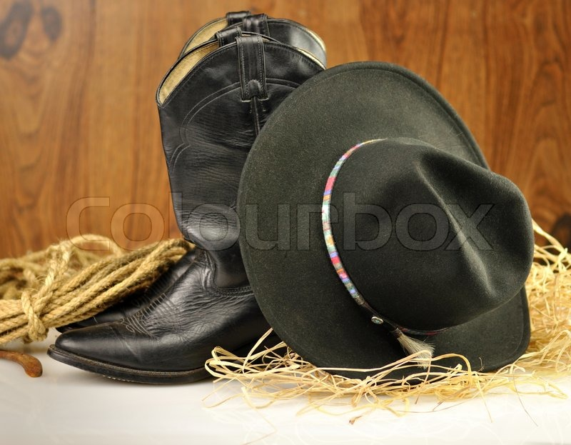 Cowboy Hat And Boots Background Black Cowboy Hat And Boots