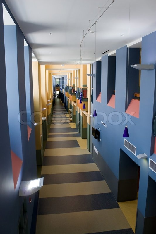 A Modern Interior With A Long Empty Hallway With Contemporary Design Stock Photo Colourbox