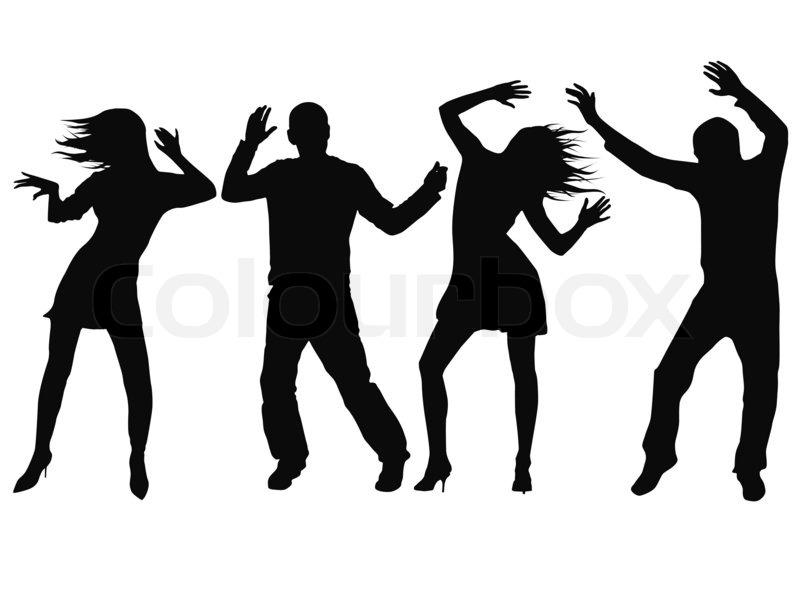 Tanzen Silhouette Menschen Stock Foto Colourbox