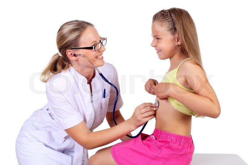 Junge Weibliche Arzt Tun ärztliche Stock Bild Colourbox