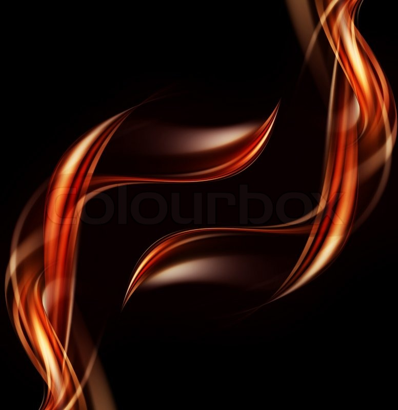 Elegant abstract fire background with abstract smooth ...