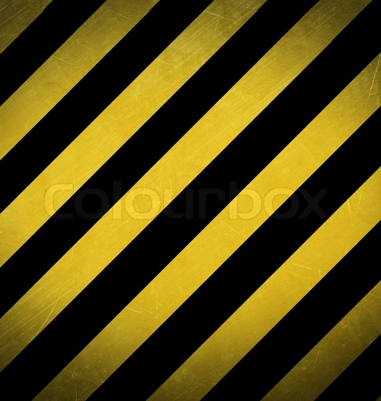 schwarz gelb hazard stripes close up backgournd stock
