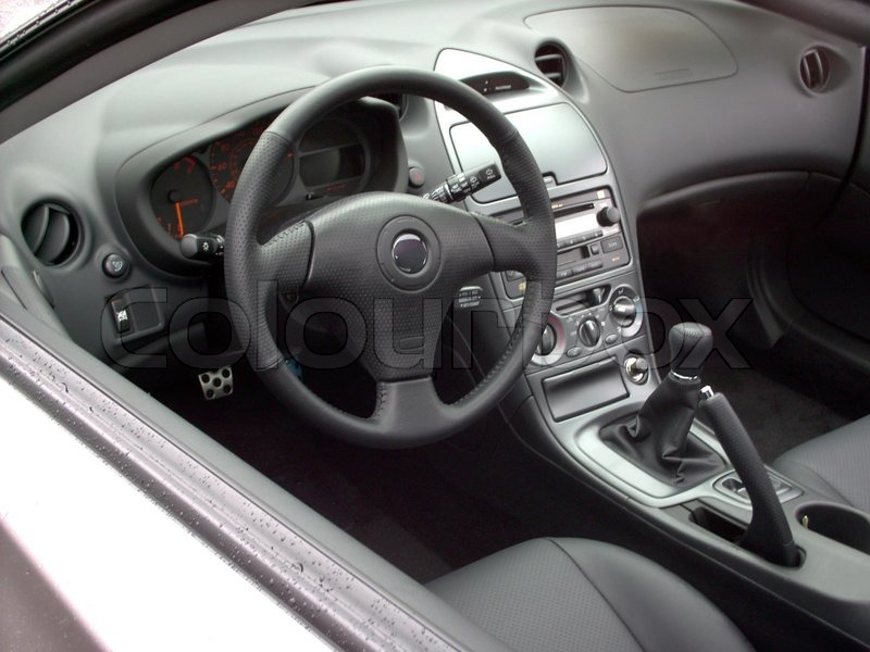 An interior of a brand new toyota celica stock photo for Toyota celica interior
