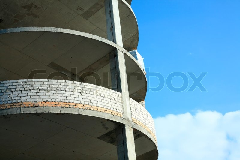 Focus point on center of photo (round building), stock photo
