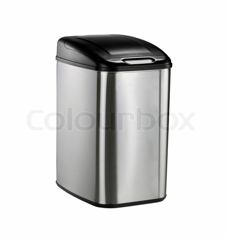 Office Trash Can Isolated On White Background Stock