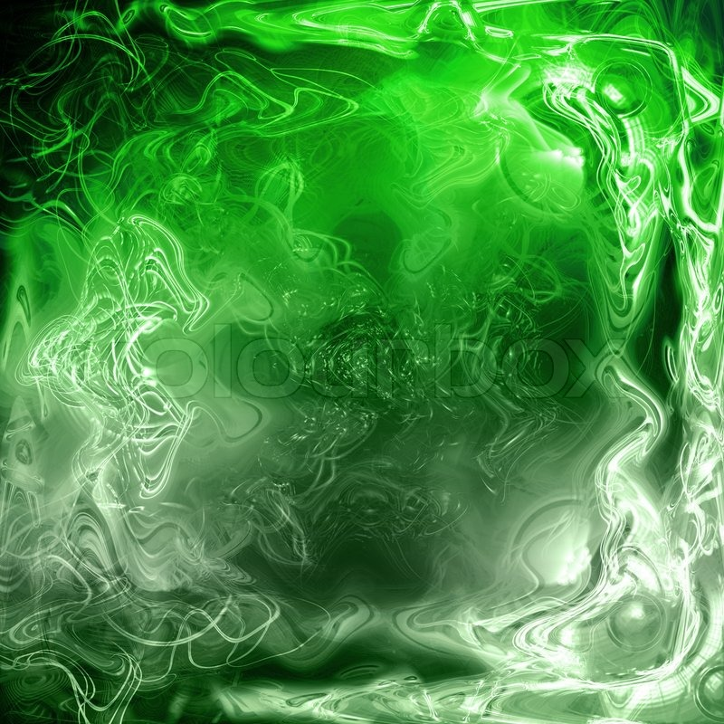 A Cool 3d Background -a Green, Fluid Abstract Background