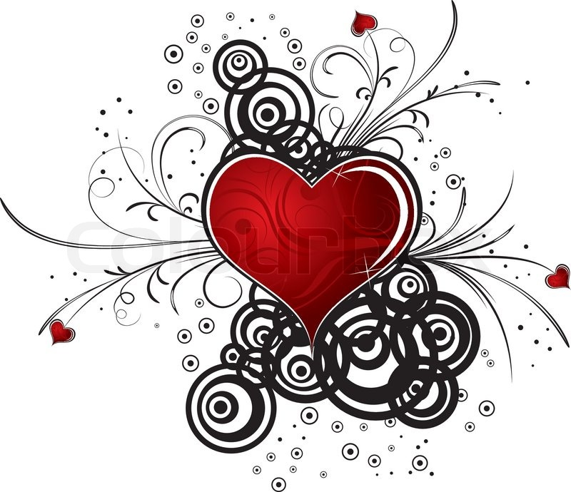 Abstract valentine's background with hearts, vector ...